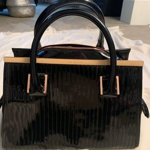Ted Baker Black Patent Leather Tote Bag